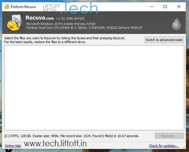 Cara Mengembalikan File Yang Terhapus - Jika Hasilnya Kosong tech-liftoff-in