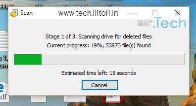 Cara Mengembalikan File Yang Terhapus - Tunggu Hingga Proses Selesai tech-liftoff-in