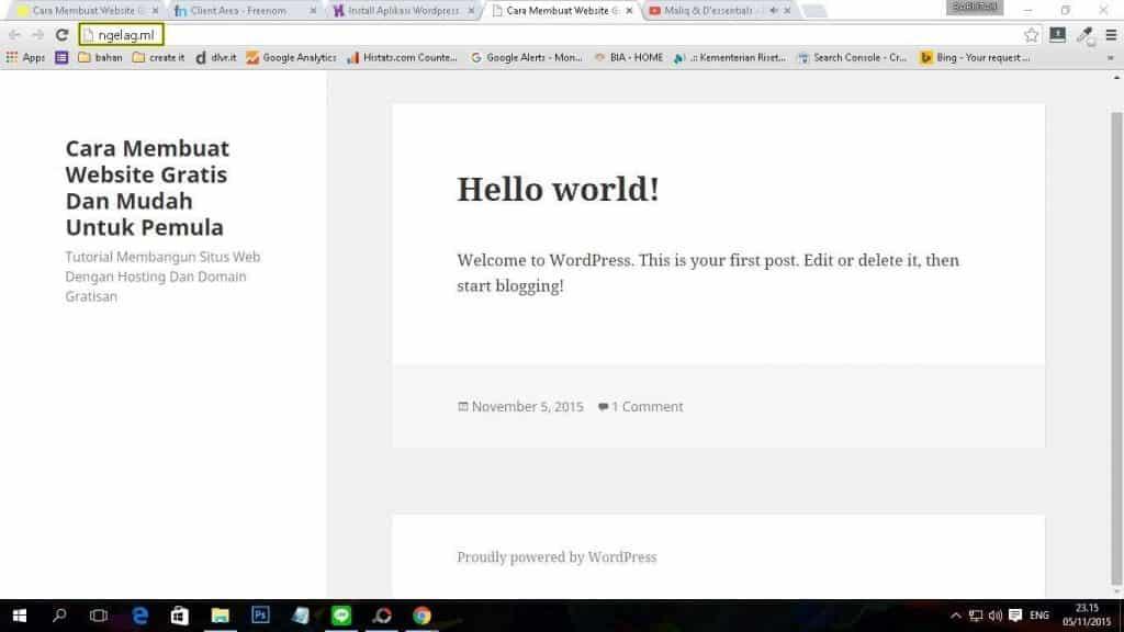 Cara Membuat Website Gratis Dan Mudah Untuk Pemula - Cara Mudah Menginstal WordPress 4