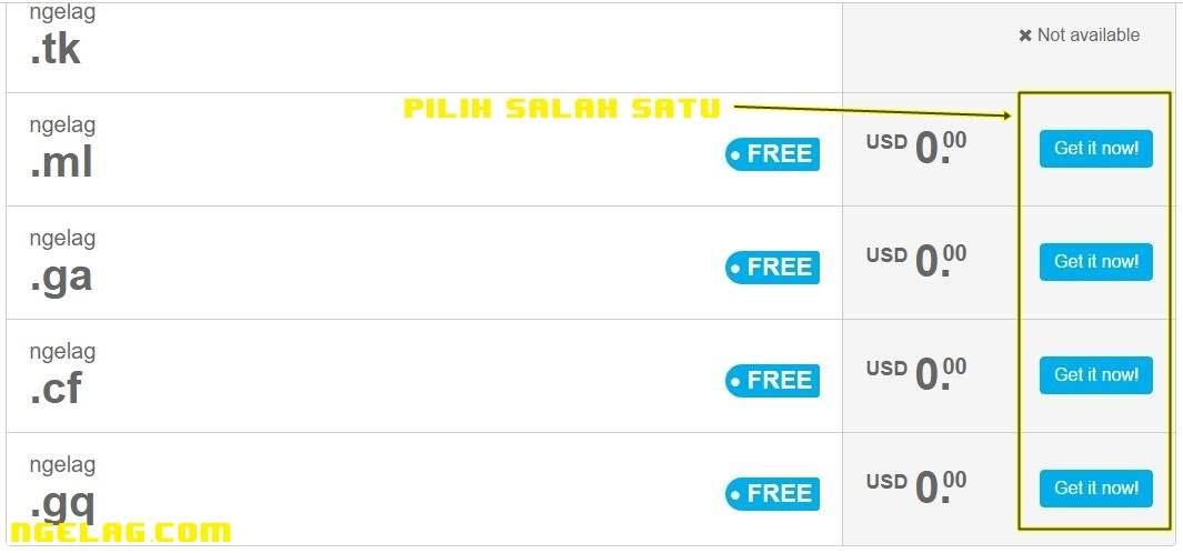 Cara Membuat Website Gratis Dan Mudah Untuk Pemula - Mendaftar domain gratisan 2