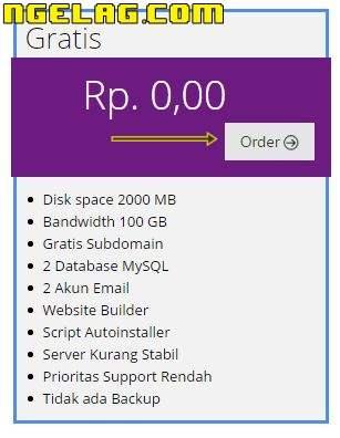 Cara Membuat Website Gratis Dan Mudah Untuk Pemula - Mendaftar hosting gratisan 2