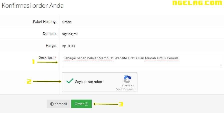 Cara Membuat Website Gratis Dan Mudah Untuk Pemula - Mendaftar hosting gratisan 4