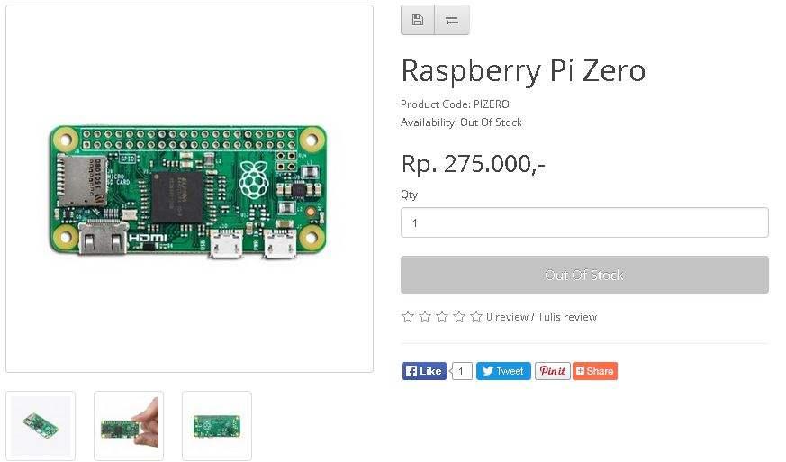 Jual Rasberry Pi Zero Murah Indonesia