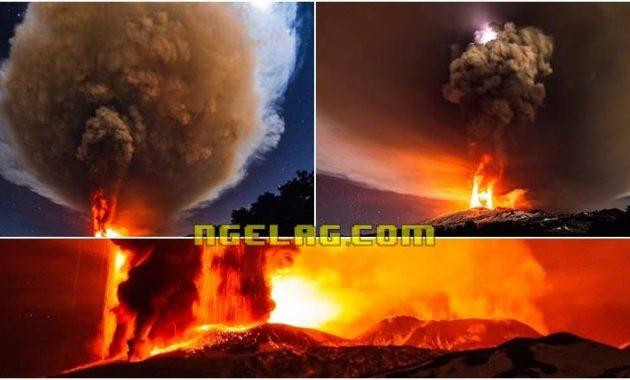 Foto Letusan Gunung Etna 3 Desember 2015