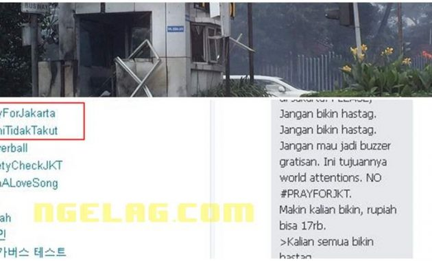 #SaveJakarta Tragedi Bom Sarinah Jadi Trending Topic Dunia , Indonesia Makin Terancam Featured