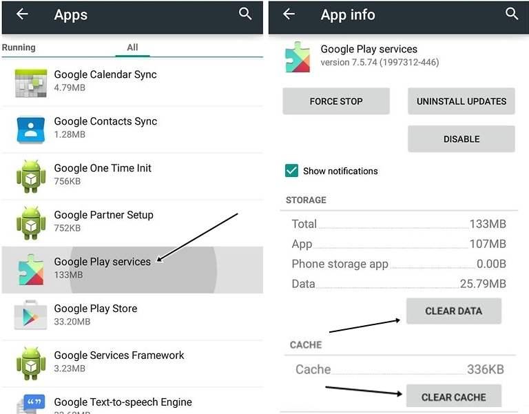Clear Cache Data Google Play Service Google Play Store Tidak Bisa Dibuka