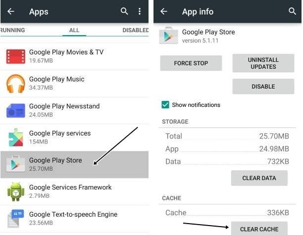 Clear Cache Google Play Store Tidak Bisa Dibuka