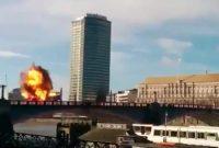 Dikira Bom Teroris , Ledakan Bom Ini Ternyata Hanya Stunt Film