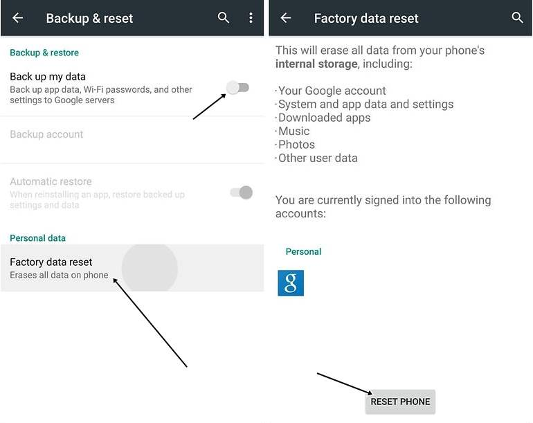 Factory Data Reset Google Play Store Tidak Bisa Dibuka