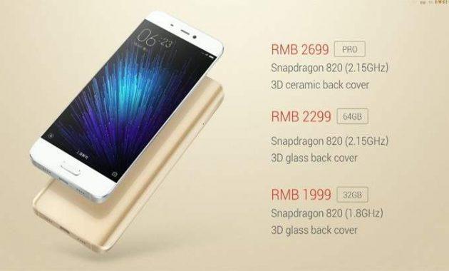 Harga Xiaomi Mi5, Spesifikasi Dan Rilis Indonesia