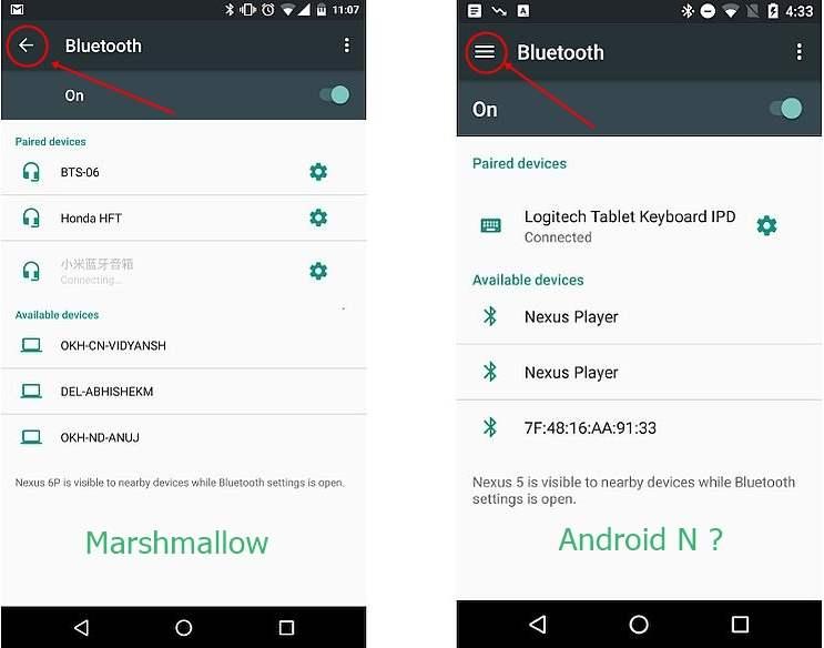 Tampilan Android N Bocor Melalui Screenshot Ini Perbedaan Dengan Android Sebelumnya