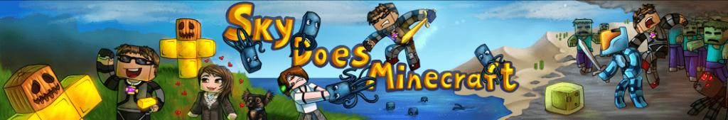 10 Youtuber Gamer Paling Populer Di Dunia SkyDoesMinecraft Banner version 2