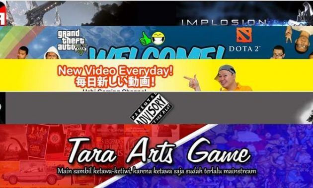 Design Channel Youtube Game Indonesia