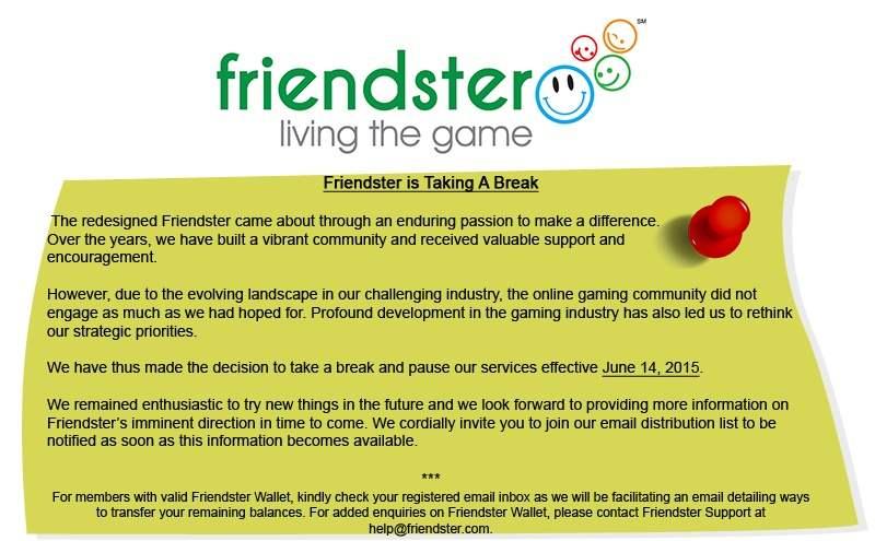 Friendster Hadir Kembali Dengan Tampilan Baru - Friendster Menghentikan Layanan 2015.