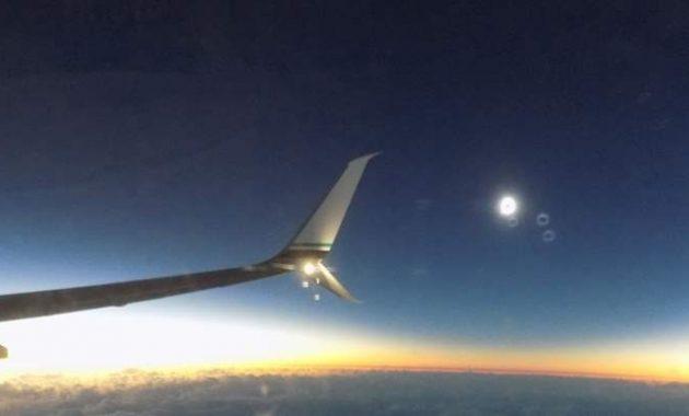 Video Rekaman Gerhana Matahari Total 9 Maret 2016 Dari Pesawat