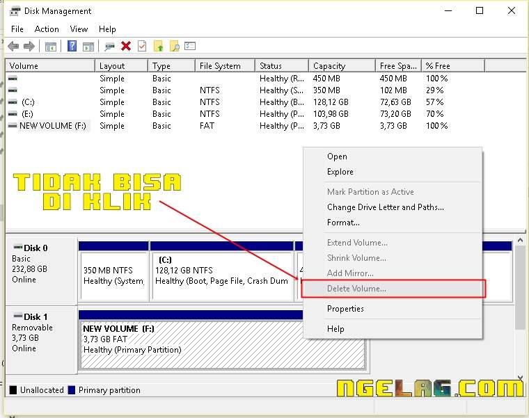 Window Disk Manager Flashdisk Tidak Bisa Diformat Ini Cara Memperbaikinya