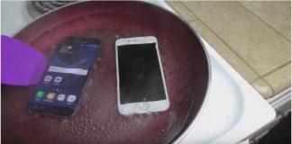 iPhone 6S VS Samsung Galaxy S7 , Mana Yang Kuat Direbus