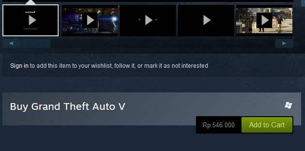 Cara Beli Game Di Steam Tanpa Kartu Kredit GTA V