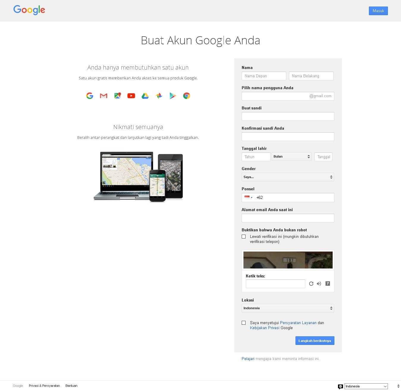 Cara Membuat Email Baru Pada Gmail Halaman Pendaftaran Google Mail