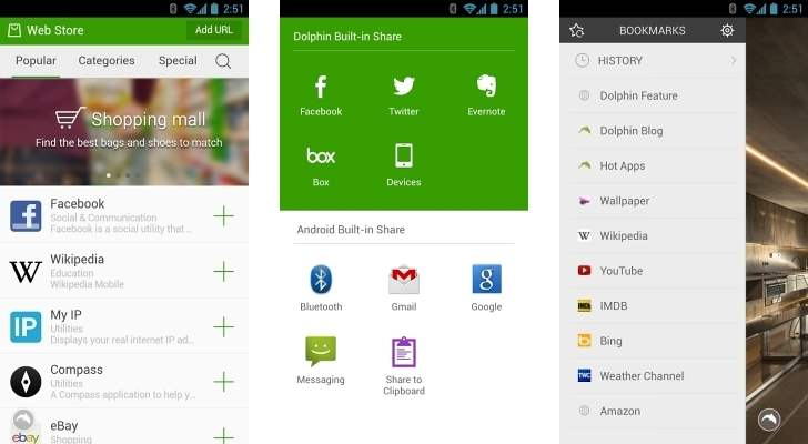 Browser Android Terbaik Dolphin Browser