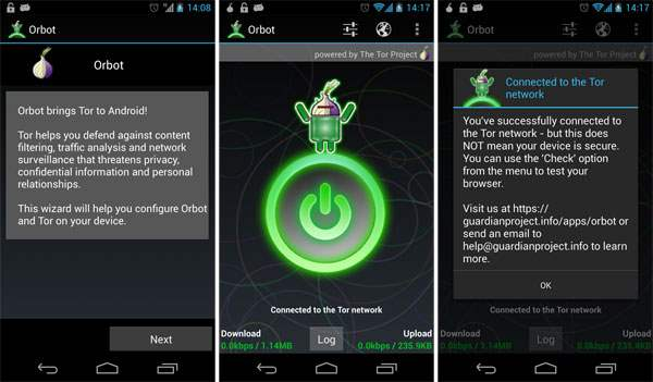 Browser Android Terbaik Orbot
