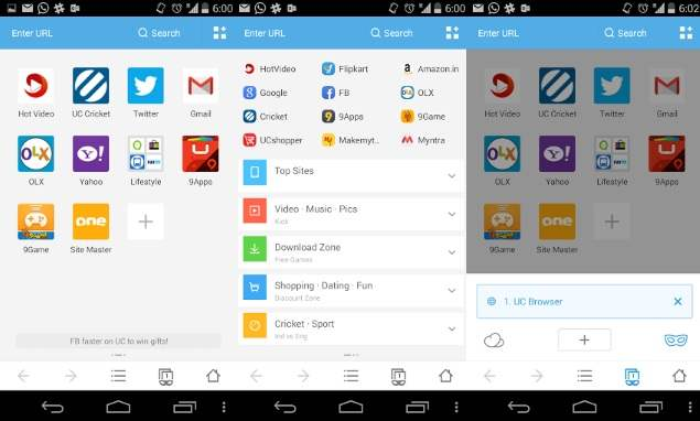 Browser Android Terbaik UC Browser