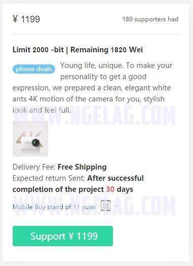 Harga Xiaomi Yi 4K 2016 JD.com