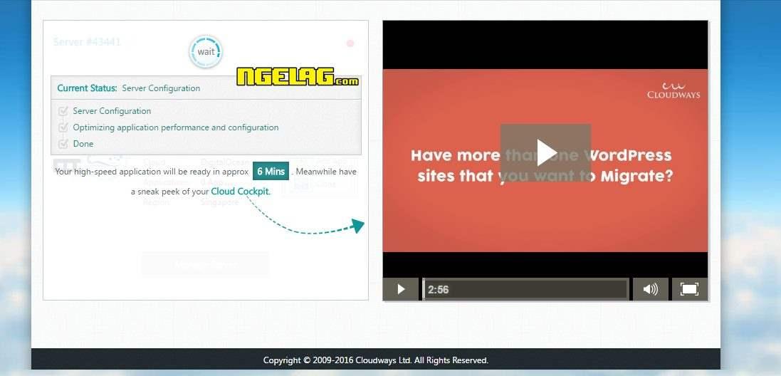 VPS Gratis Digital Ocean Tanpa Kartu Kredit - Tunggu Proses Pembuatan Server