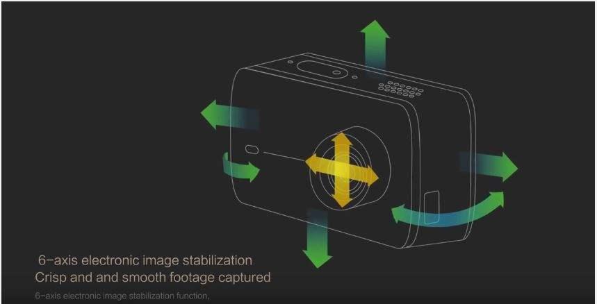 Xiaomi Yi 4K 6 Axis Electronic Image Stabilization