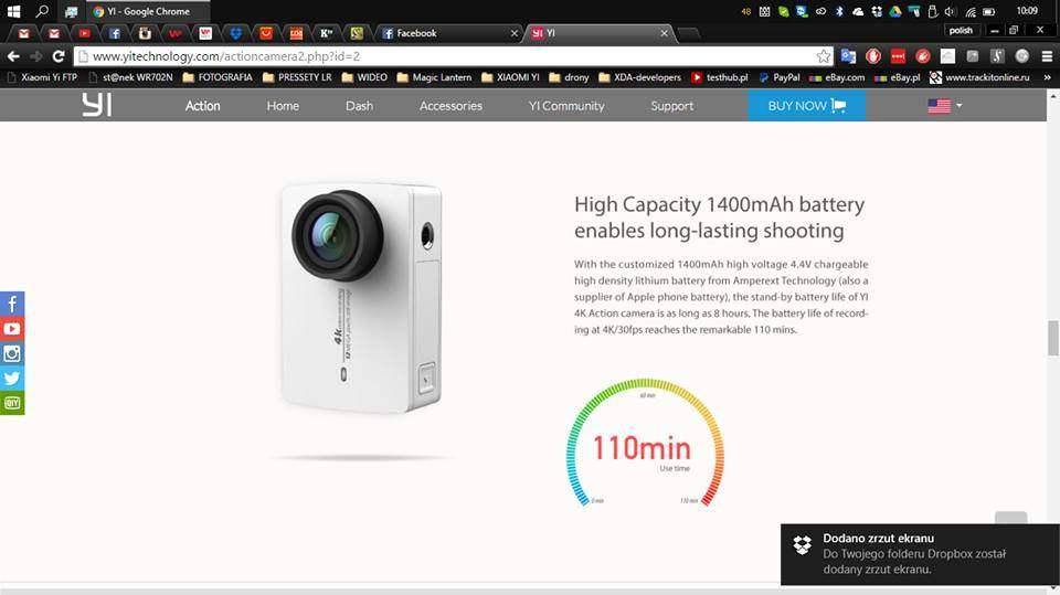 Xiaomi Yi 4K Action Camera hadir dengan Baterai Tahan Lama