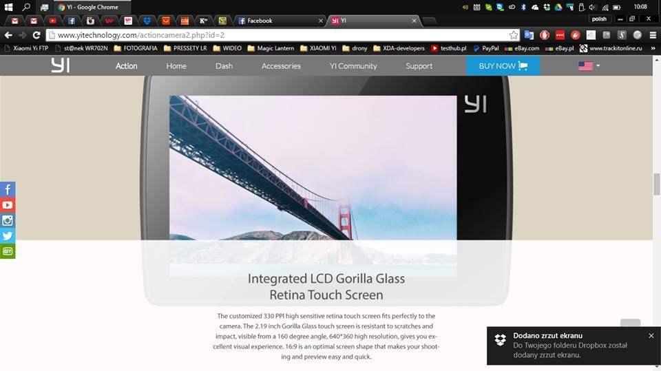 Xiaomi Yi 4K Action Camera 2 Dilengkapi LCD Gorilla Glass