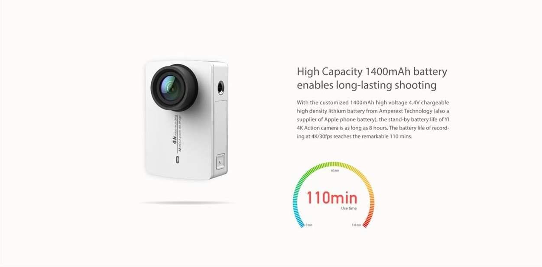 Xiaomi Yi 4K Action Camera Spesifikasi Baterai