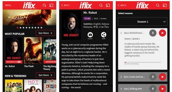 Aplikasi Iflix Pada Smartphone Android