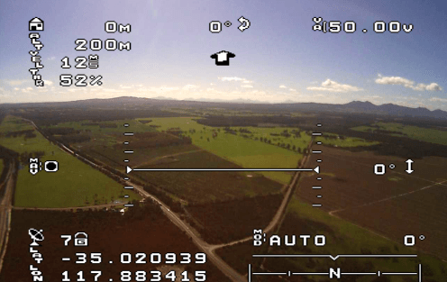 Contoh Tampilan OSD On Screen Display FPV Drone