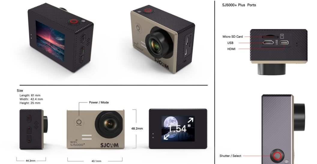 SJCAM SJ5000 + Harga , Spesifikasi Dan Review - Layout