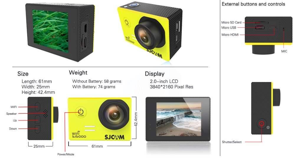 SJCAM SJ5000 Wifi Harga , Spesifikasi Dan Review - Layout