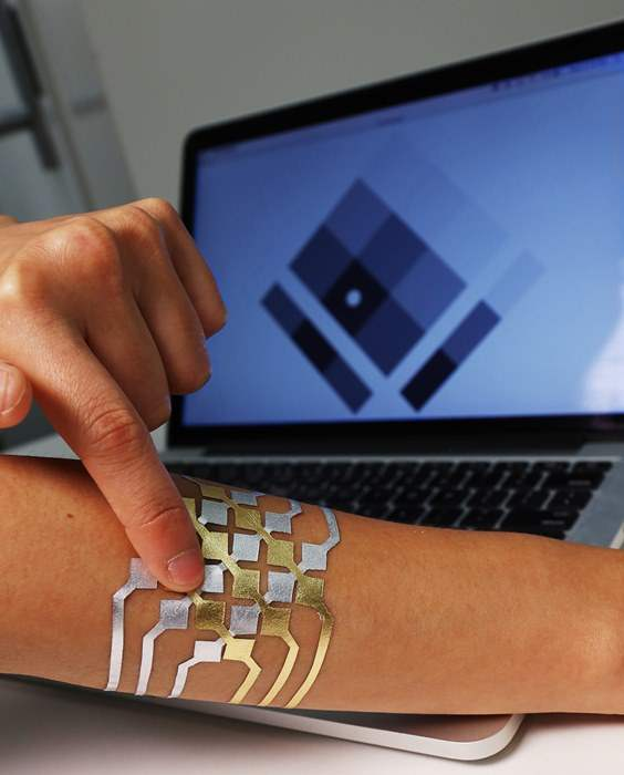DuoSkin 2D trackpad visualization MIT Microsoft