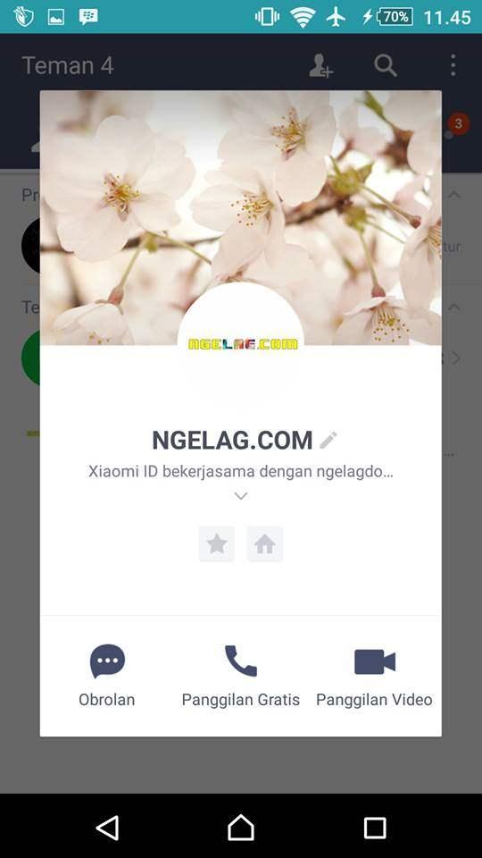ID LINE Penipu . NGELAG.COM TIDAK PERNAH MENGADAKAN KUIS UNDIAN BERHADIAH MELALUI LINE .