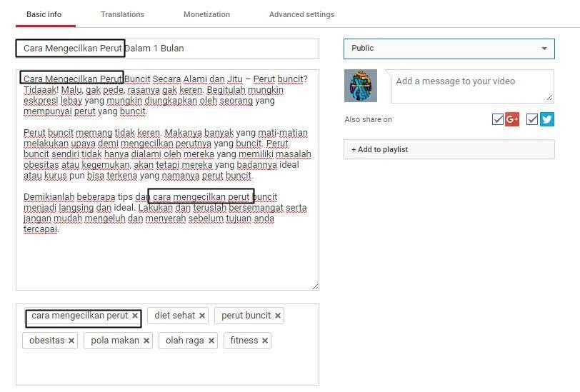 Cara SEO Youtube Indonesia Agar Video Masuk Trending Cara Menulis Judul , Deskripsi dan Tag