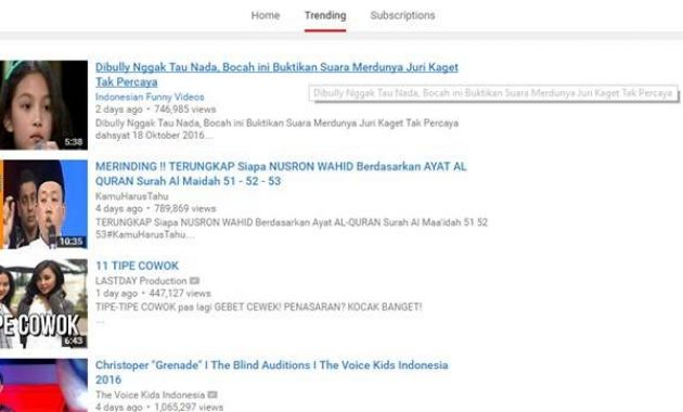 Cara Seo Youtube Indonesia 2016