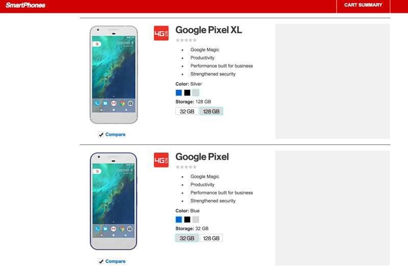Google Pixel dan Pixel XL Yang Dijual Verizon