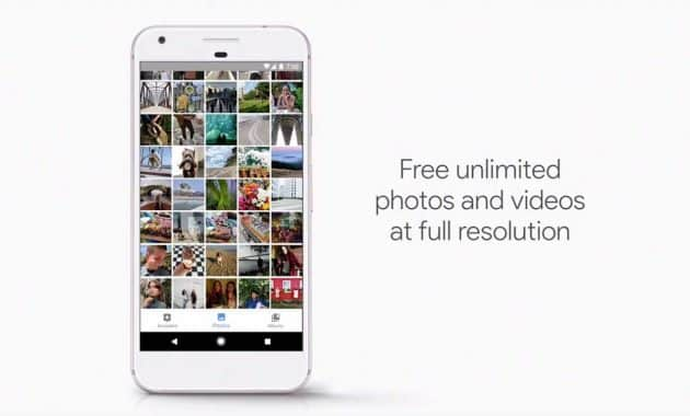 Google Pixel Unlimited Cloud Storage