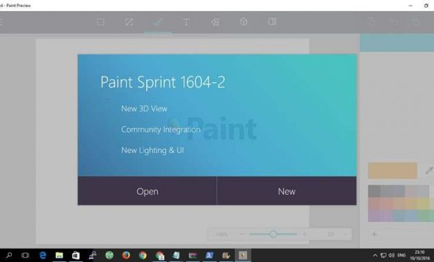 Microsoft Paint Windows 10 Preview Version