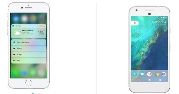 Perbandingan Antara iPhone 7 VS Google Pixel