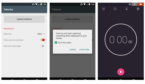 Telecine Aplikasi Perekam Layar Android Terbaik Tanpa Root