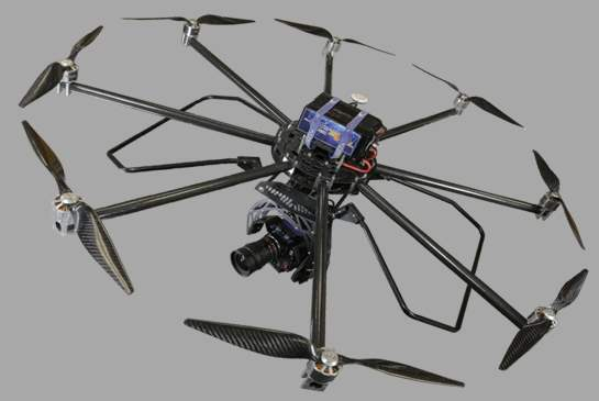 TurboAce Infinity 9Pro Octocopter Drone Terbesar Di Dunia
