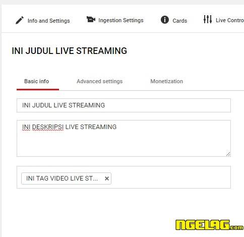 Cara Live Streaming Di Youtube Lancar Dan Mudah - Judul , Tag dan Deskripsi Video