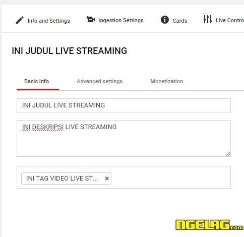 Cara Live Streaming Di Youtube Lancar Dan Mudah - Judul , Tag dan Deskripsi Video