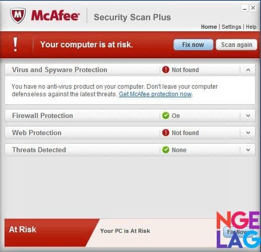 McAfee Security Scan Plus Antivirus Gratis Terbaik