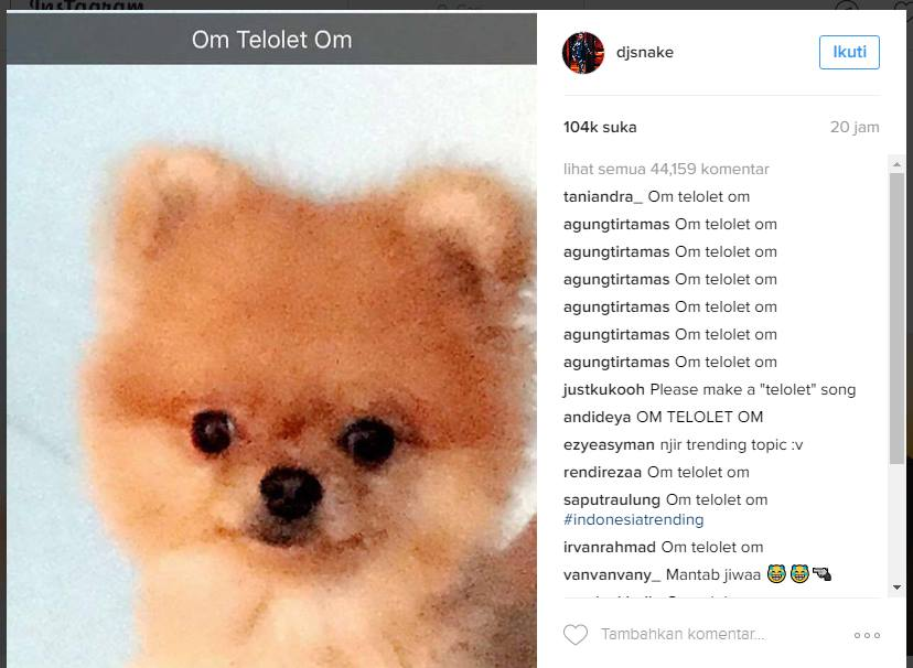 Om Telolet Om Sesaki Instagram Selebriti Luar Negeri